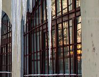 Ice spikes in Saint-Petersburg