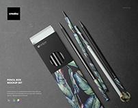 Pencil Box Mockup Set
