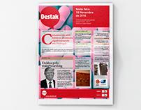 Editorial Design : NEWSPAPER DESTAK - school project