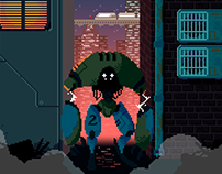 """Pixel Art Project - Inspired by the short """"GEAR"""""""