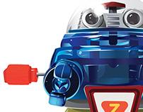 TOY ROBOT (illustration)