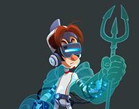 Young virtual gladiator
