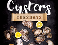 Oysters Promotion Flyer Template