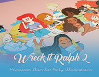 Wreck it Ralph 2 / Slumber Party Illustrations
