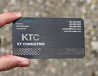 Black Metal Card with Brushed Gun Metal Finish