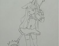 Sketchbook - Mage character 1