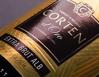 Sparkling Wine Packaging Design – Corten D'Oro
