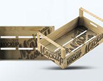 Wooden Fruit Crate Mock-Up