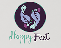 Happy Feet - Spa Salon | Logo Design