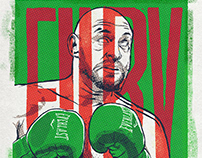 Boxer Portraiture. Andy Ruiz, Tyson Fury.