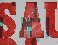 """Saudades"" Letterpress Poster"