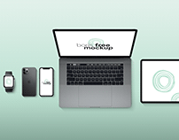 Free PSD UI Showcase with Apple Devices Mockup