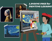 landing page for painting lessons
