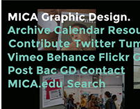MICA Graphic Design Blog Redesign