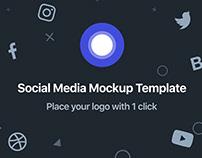 Social Media Template Mockup - PSD