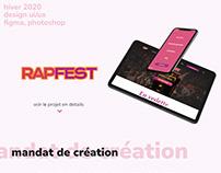 RapFest - site web d'un festival fictif