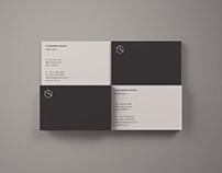 Free Business Card Mockup - Top View