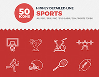 JI- Sports Line Icon Pack