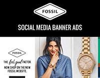 Fossil Social Media Banner Ads