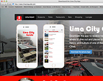 Lima City Guide App Landing Page