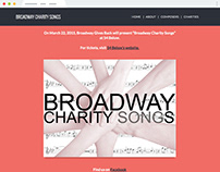 Broadway Charity Songs site design