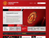 Manchester United Website Redesign Concept