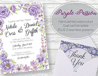 Oval card template: 'Purple Passion'
