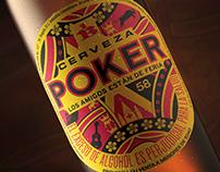 Etiqueta Cerveza Poker