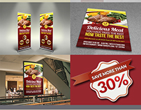 Restaurant Advertising Bundle Template Vol.10