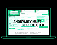 Anonymity must be protected | Interactive storytelling