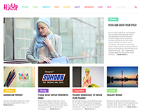 Hijup.com blog design