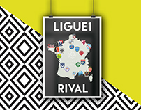 French Ligue club With their rival team's colours