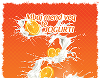 """Vita"" - yogurt with orange flavor // Poster (concept)"