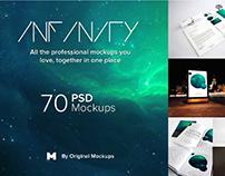 Infinity Branding Mockups Bundle By:Original Mockups