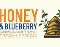 Spreadable Honey Packaging Illustrated by Steven Noble