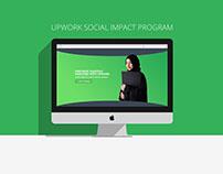 Upwork Social Impact Program - Landing Page