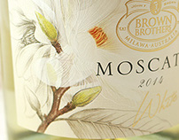 Magnolia sketches for moscato labels