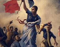 Allez les Bleus - World Cup Illustration
