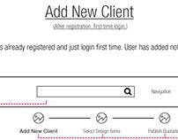 Dashboard design for Interior Designer