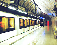 In the Metro {Budapest}
