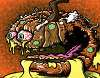 Putrid Pumpkin Food Fruit Lowbrow Cartoon Character