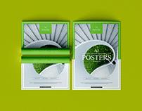 A3 Creative Presentation Poster Mockup Free