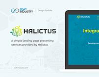 Halictus. Landing Page