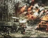 Fotomanipulation-Powstanie Warszawskie