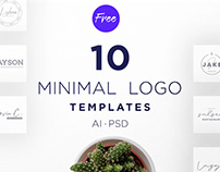 Minus 10 Free Minimal Logo Templates PSD | AI