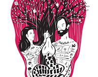 Adam and Eve Rockabilly T-Shirt Design