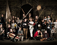 The Night Watch School picture Rembrandt Style