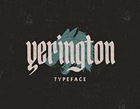 Yerington Typeface