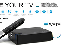 WETEK Android box identity and advertising design
