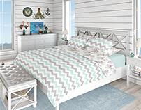 Bedding Mockup Set - Coastal Style